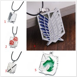 titan pendant Australia - Attack On Titan New Cartoon Anime Attack On Titan Investigation Corps Flag Wing Necklace Cool Metal Necklace Men Jew