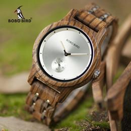 $enCountryForm.capitalKeyWord Australia - BOBO BIRD Men Watch Quartz Watches Male wooden Wristwatch Small second disk Gift box saat erkek clock Customize logo