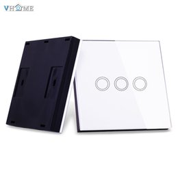 $enCountryForm.capitalKeyWord NZ - Wholesale-VHOME Smart Home RF 433MHz 3Gang Wireless Switch Shape Remote Control for Touch Wall Lightes Electric Curtains,Home Automation
