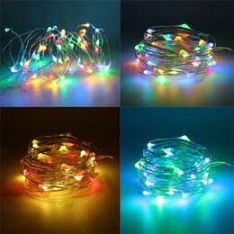 $enCountryForm.capitalKeyWord Australia - 5M 10M 20M LED Copper Wire String Lights Christmas Halloween Lights With Remote Controller 3 AA Battery Powered Outdoor Garden String Garlan