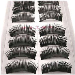 dense eyelashes UK - Thick False Eyelashes Handmade Black Dense Cross Exaggerated Eye Lashes Fashion Ball Smoke Makeup Fake Eyelashes 10 pairs box