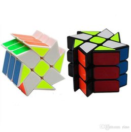 Rotating Cube Toy NZ - Magic Cube Puzzle Cube Twist Toys 5.6cm 3x3x3 Gears Rotate Puzzle Wind and Fire Wheel Educational Gifts Toys