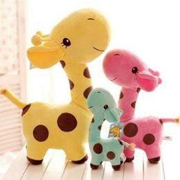 $enCountryForm.capitalKeyWord Australia - New 25 cm Plush Giraffe Soft Toy Animal Dear Doll Baby Kid Child Birthday Happy Gift 6 Colors For Choices