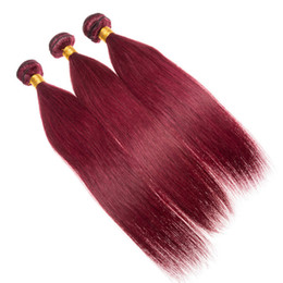 $enCountryForm.capitalKeyWord Australia - Silk Straight Color 99j Burgundy Human Hair For Black Women 99j Virgin Hair Weaves Straight Malaysian Remy 3Bundles Hair Wefts Free Ship