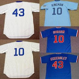 a06428399 Men Youth women 10 DAVE KINGMAN 10 LEON DURHAM 43 DENNIS ECKERSLEY Chicago  1989 Baseball Jersey