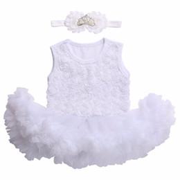 89ca73064 Vestido de niña recién nacido 2017 Ropa de niños  Bautizo Bautizo Vestido  de bebé Vestidos Infantil Ropa Diadema de niña Set 12M