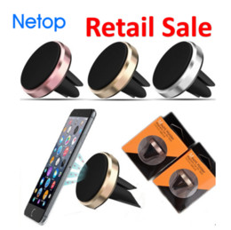 magnetic cell phone car mount NZ - Retail Sale Netop Cell Phone Mounts for Car drving Magnetic Phone Holder Catch Car Air Vent For Easy Navigation for Iphone 8