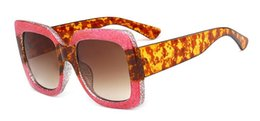 New Fashion Female Sunglasses Canada - 2018 New Fashion Luxury Vintage Sunglasses Women Brand Designer Oversize Squre Sun Glasses Female UV400 6pcs lot Free shipping