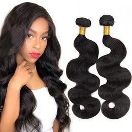 $enCountryForm.capitalKeyWord NZ - Body Wave Wet And Wavy Remy Hair 3 Bundles Lot 10-28 Inches Natural Black Malaysian Indian Peruvian Brazilian Real Human Hair Extensions