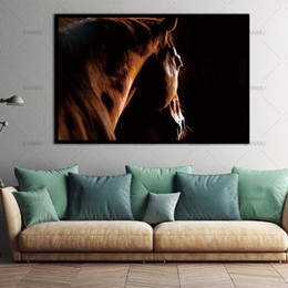 Horse pictures for living room wall online shopping - Canvas Paintings Wall Picture HD Animal Decorative Horses Pictures Printed Canvas Wall Art Home Decor For Living Room no frame