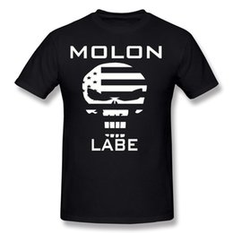 round skull NZ - Cheap Mens Pure cotton Punisher Skull Molon Labe T Shirts Mens Round Collar Grey Short Sleeve T Shirts 4XL Custom T Shirts