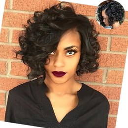 Side Parting Short Curly Hair Canada Best Selling Side Parting