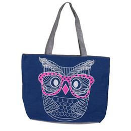 INS Hot sell Women s brand Fashion Lady Owl Shopping Handbag Shoulder  Canvas big Bag Tote Purse b  dropship ac713cf50efa8