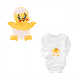 Wholesale garment apparel clothes for sale - Group buy Adorable Chick Iron on Badge Patches Embroidered Applique Sewing Patch Clothes Stickers Garment Apparel Accessories