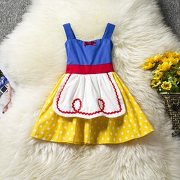 Organza Cosplay Dress NZ - Summer infant girls cosplay dress bowknot skirt princess dresses for festivals birthday party clothes wear fit for 2-6years