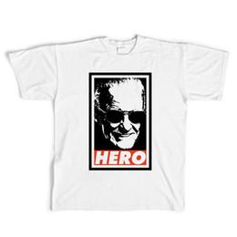 lees fashion 2019 - American Comic Father Stan Lee Tshirts White 3D Print Comic Tee Crew Neck Short Sleeves Tshirts Free Shipping cheap lees