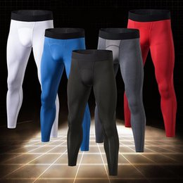 $enCountryForm.capitalKeyWord Canada - YEL New Men's Leggings Quick Dry Fitness Tight Sports Trousers Gym Clothing Running Pants Men Jogging Compression Sportswear