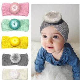 Knitted hair accessories for babies online shopping - 9 colors New baby hair Knotted headband cute hair band knitted hair accessories for children newborn toddler