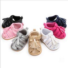 $enCountryForm.capitalKeyWord Australia - Baby Infant Kid Girl Soft Sole Crib Toddler Summer Princess Sandals Solid Sandals Shoes 0-18M