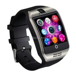Bluetooth Smart Watch Sim Australia - Q18 smart watches for android phones Bluetooth Smartwatch with Camera Original q18 Support Tf sim Card Slot Bluetooth