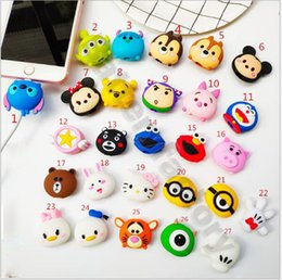 China Free epacket Cable cartoon Animal Bite Protector for iPhone Cable Organizer Winder Phone Holder Accessory Rabbit Dog Cat Cute Design cheap cute cat iphone suppliers