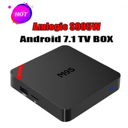 M8s Android Tv Boxes Australia - M9S TX3 Mini Android TV Box Amlogic S905W Quad Core 1GB 8GB Android 7.1 Smart Media Player Support IPTV 2.4G Wifi Better MXQ Pro M8S Plus W