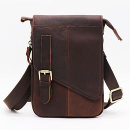 6639df1a47e4 Crazy Horse Natural Cow Leather Casual Multi-funciton Bag Men s Shoulder  Messenger Bag Waist Belt Sling Pack Cell Phone Case