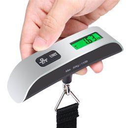 أزياء الساخنة المحمولة شاشات الكريستال السائل الرقمية الالكترونية الشنق الأمتعة وزن مقياس 50kg * 10g 50kg / 110lb موازين الوزن