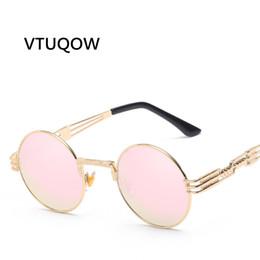$enCountryForm.capitalKeyWord Canada - Luxury Round Sunglasses Women Men Brand Designer Couple Gothic Steampunk Lady Sunglass Female Sun Glasses For Women UV400