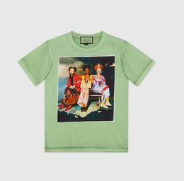 oil paintings italy 2019 - 2018 Summer Europe Italy Artist Collaboration Luxury Ignasi Monreal hallucination Shopping Girls Oil Painting Tee Cotton