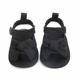 Sandals For Infant Boys Australia - Baby Boy Girl Shoes Summer Sandals Baby Girl Bow PU Soft Toddler Shoes Infant Sandals For 6~18 Moths