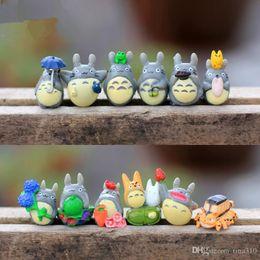 Discount totoro mini figures - 12 pcs Set My Neighbor Totoro Mini Figure DIY Moss Micro Landscape Toys New garden miniatures decoration Garden Decorati
