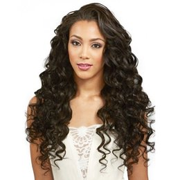 Smooth Soft Hair UK - 2018 shine soft best beauty smooth sexy 100% unprocessed remy virgin human hair natural color long deep wave full lace wig for women