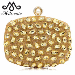 Colorful Buttons Bags UK - Milisente Women Colorful Clutch Bags Lady Diamond Evening Bag Female Fashion Wedding Clutches
