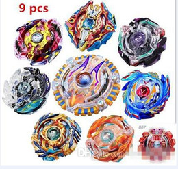 $enCountryForm.capitalKeyWord Australia - Wholesale New Arrive!! 9 pcs uper Beyblade Metal Funsion 4D B79 Spinning Top Classic Toy Fighting Gyro With Launcher Original box