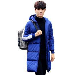 $enCountryForm.capitalKeyWord UK - New Mens Winter Long Jackets Parka Homme Hooded Cotton Down Padded Coat Thick Warm Side Stripe Long Sleeve Men Quilted Outerwear