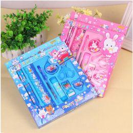 $enCountryForm.capitalKeyWord NZ - Interesting Kawaii Stationery Set for Kids Cute Pencil Case for Girls Ruler Eraser Children Gift Office School Supplies 0158