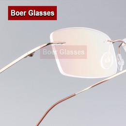 fc44acf20e839 Lunettes de vue Homme en acier inoxydable poids léger Cadres Homme Lunettes  sans monture Myopia Spectacle Optical Prescription 763