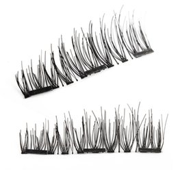transparent strip false eyelashes NZ - 2018 Pure Handmade Magnet Fake Eyelashes 3PCS Magnetic Eyelash Extension Full Strip Lash Design Natural Curl Long False Eyelashes Kit Makeup