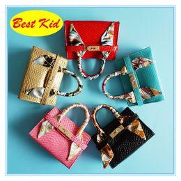 $enCountryForm.capitalKeyWord NZ - BestKid DHL Free Shipping! Kids Mini Handbags for Shopping Toddlers Brand bags With Scarf Preschool Baby Girls Mini Totes Fashion Bags BK007