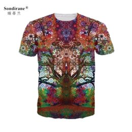 $enCountryForm.capitalKeyWord Australia - New Fashion Women Men Psychedelic Trees 3D Print Short Sleeve Casual Tops T-Shirts Fashion Hip Hop Clothing Summer Breathable Tees Plus Size
