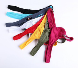 1001DK Free shipping Wangjiang Brand wholesale thong panties best mens underwear knickers no accessory lingerie Nylon spandex on sale on Sale