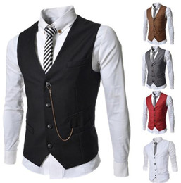 $enCountryForm.capitalKeyWord NZ - New spring style men's metal chain trim, business casual vest, free shipping