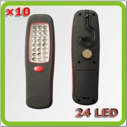 Yellow car leds online shopping - led work lamp Leds Lampara Trabajo LED hand lamp AA battery yellow red for car camp garape etc