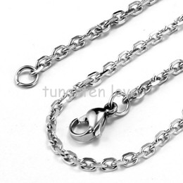 Stainless Rolo Chain Australia - 22 Inch 0.8mm Silver Women's Men's 316L Stainless Steel Necklace High Quality Rolo Chain For Floating