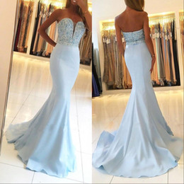MerMaid proM dress white pearl sheer online shopping - Lace Sweetheart Mermaid Evening Dresses Sexy Backless Pearls Rhinestones Sleeveless Sash Prom Dresses Plus Size Custom Made BA7755