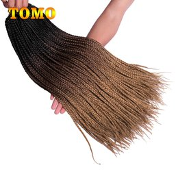 $enCountryForm.capitalKeyWord NZ - Pure Or Ombre Brown Blonde 3X Box Braids 24 Inch Long Crochet Braids Synthetic Braiding Hair Extensions For African American Woman 22strands