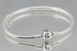 AAA1 Шарм браслеты 925 серебряные браслеты поставляются с коробкой, чехол 2018 бесплатная доставка на Распродаже