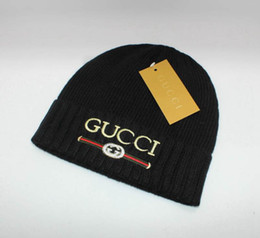 Designer church hats online shopping - Luxury Winter Brand Beanie With  Letters Mens Womens Skull Caps f11c658bb6e