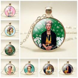 Vintage glass animals online shopping - Vintage Bronze Chain Long Necklaces Men Women Jewelry Dome Glass Pendant Necklaces Jewelry